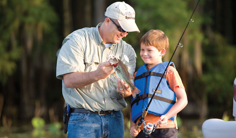Actions speak louder than words when sharing the passion for hunting, fishing and the outdoors.