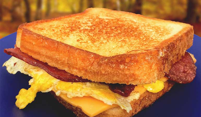 'Good Morning' Grilled Cheese Sandwich Recipe for Camping