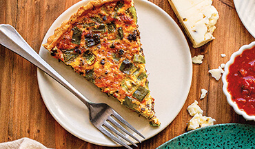 Simplify breakfast or brunch for a crowd by making this savory venison chorizo quiche recipe.