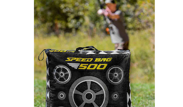 The Speed Bag 500 target stops arrows up to 500fps.