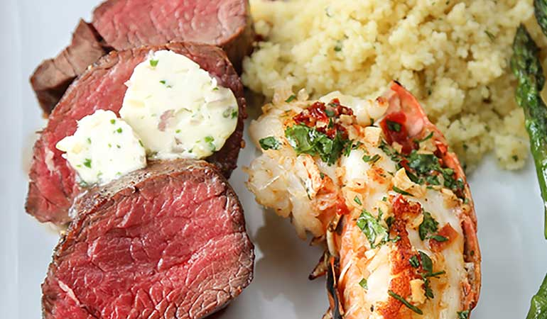 venison loin and lobster recipe