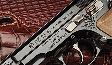 CZ is celebrating the 45th anniversary of the CZ 75 in 2020 with another limited-edition CZ 75B. As before, only 1,000 pistols chambered in 9mm will be offered. Commanding $1,720 apiece, this year's version wears a very reflective, high luster bluing over the artwork of Master Engraver Rene Ondra. Deep-vine engravings appear around the slide, frame and on both maple wood grip panels.