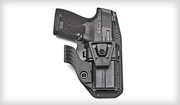 Feature rich, the Fobus APN offers adjustable configurability and pas-sive retention in a comfortable and concealable package. The removable concealment wing draws the grip of the pistol closer to your body to avoid printing. The APN series also includes a detachable and breathable sweat guard and a rotating belt clip, both of which can be removed and reversed for ambidextrous use.