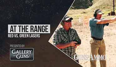 "In this segment of ""At The Range,"" Handgunning Editor Jeremy Stafford and contributor Patrick Sweeney compare the visibility of red and green lasers in outdoor, sunny conditions."
