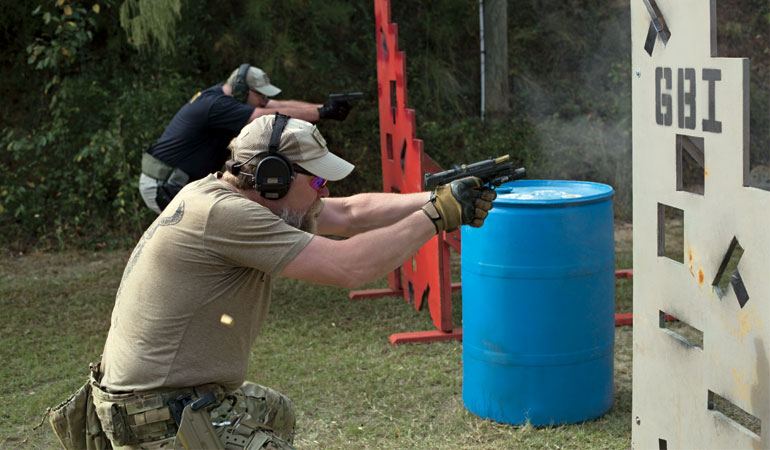 Firearms Training: The 9-Hole Barricade