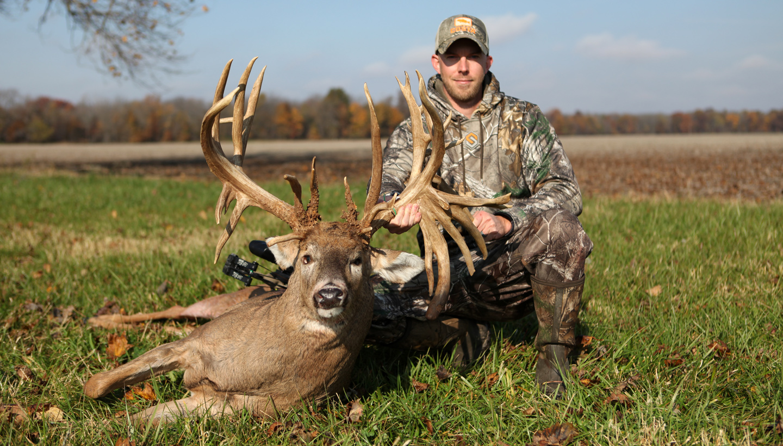 Luke Brewster with record buck
