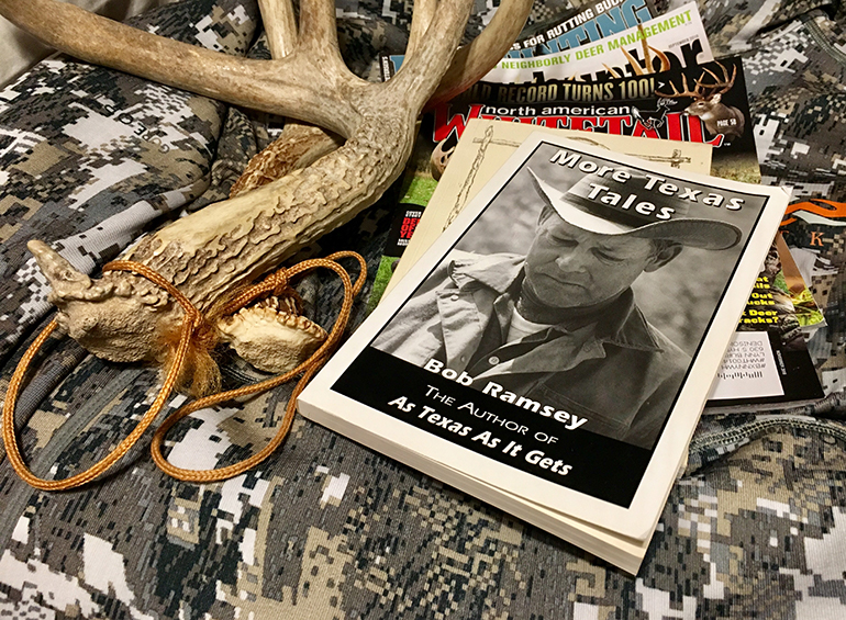 Bob Ramsey book and antlers