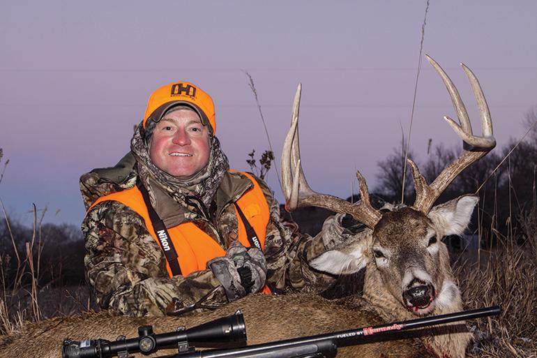 Mark Kayser with late season buck