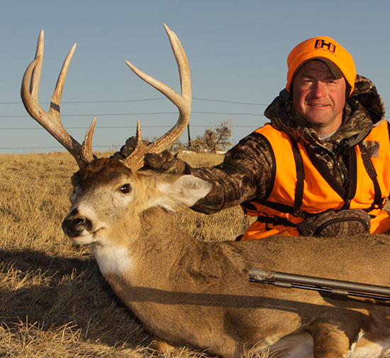 Mark Kayser with December whitetail