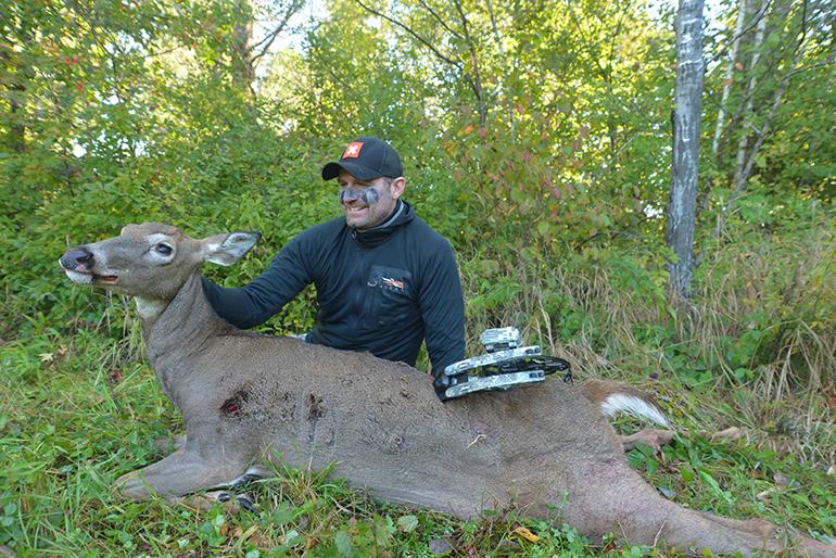 Tony Peterson with archery doe