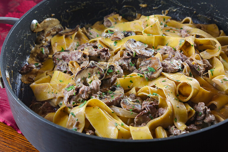 <p>Quick and easy to pull together on a weeknight, this Venison Stroganoff Recipe requires few ingredients but makes a filling dinner that everyone will love.</p>