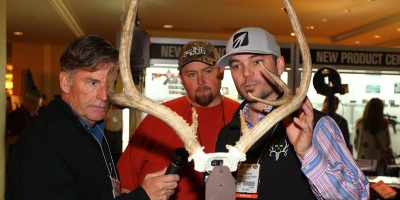 The Bone Collector crew kills a lot of deer, so they could probably use a new product to help display the racks. (James Overstreet photo)