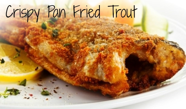 Crispy Pan Fried Trout in three easy steps. A delicious sauce is made when deglazing the cast iron pan.