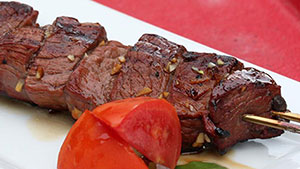Grilled Marinated Caribou Venison Sirloin Recipe