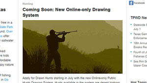 TPWD Hunt Drawing System Going Green