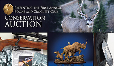The Boone and Crockett Club has partnered with dozens of iconic brands and generous benefactors to organize its first annual conservation auction.
