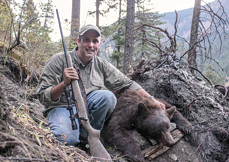 Brad Fitzpatrick with Idaho black bear