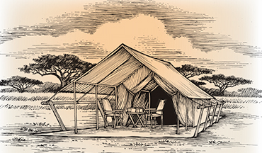 A true safari should still include nights spent in a humble tent.