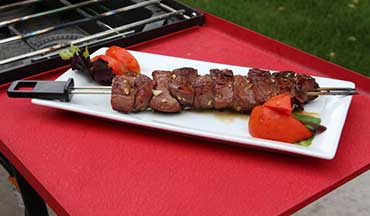 This marinade recipe is intended for venison heart skewers, but would also work nicely for various wild game cuts.