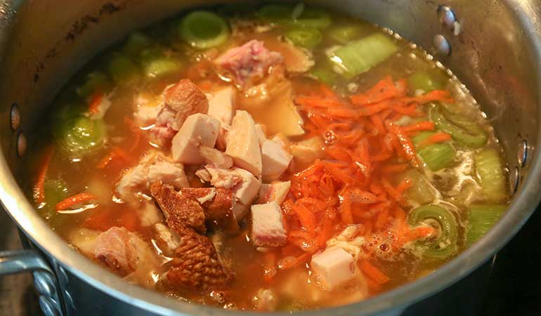 Pheasant Cock-a-Leekie Soup Recipe