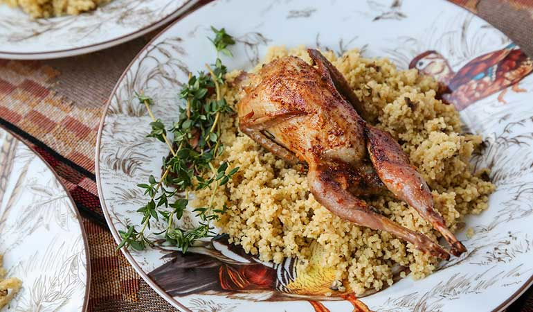 Rosemary and Orange Roasted Quail Recipe