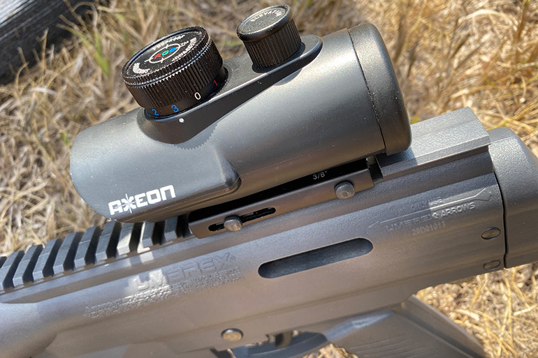 profile of Umarex Airjavelin with sight