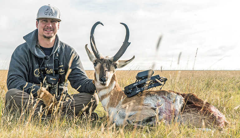 Brandon Adams with pronghorn
