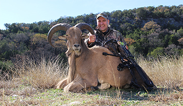 C.J. Winand and his daughter tag a pair of Texas aoudad rams in the Hill Country.