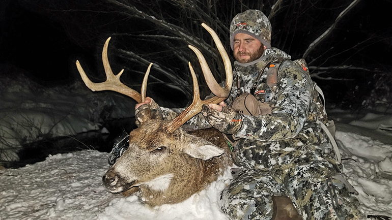 Clint Casper with late season whitetail