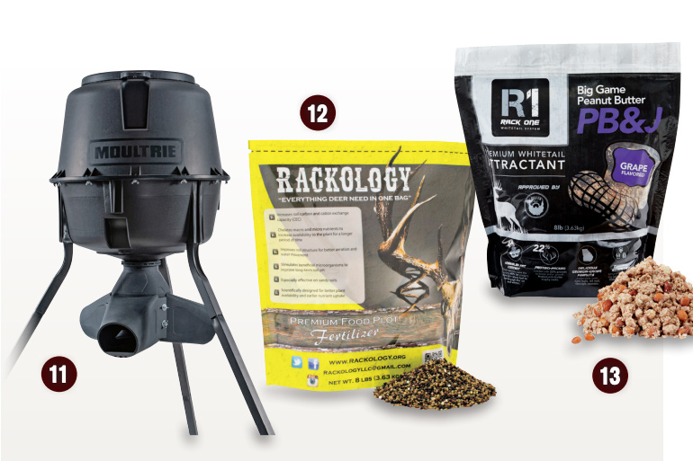 deer feeder and fertilizer roundup