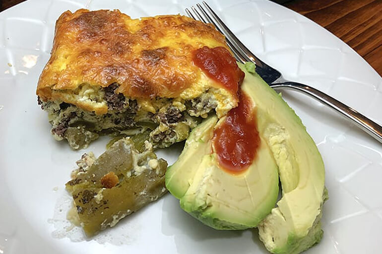 Green Chile Venison Egg Bake Recipe