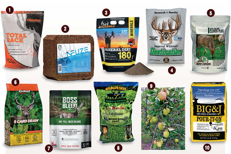 deer minerals and food plot seeds roundup