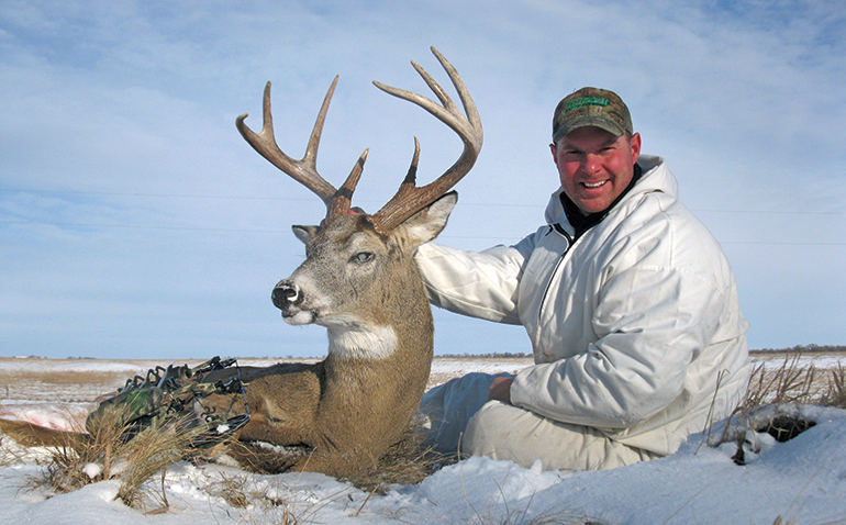 Dana Rogers with late season whitetail buck
