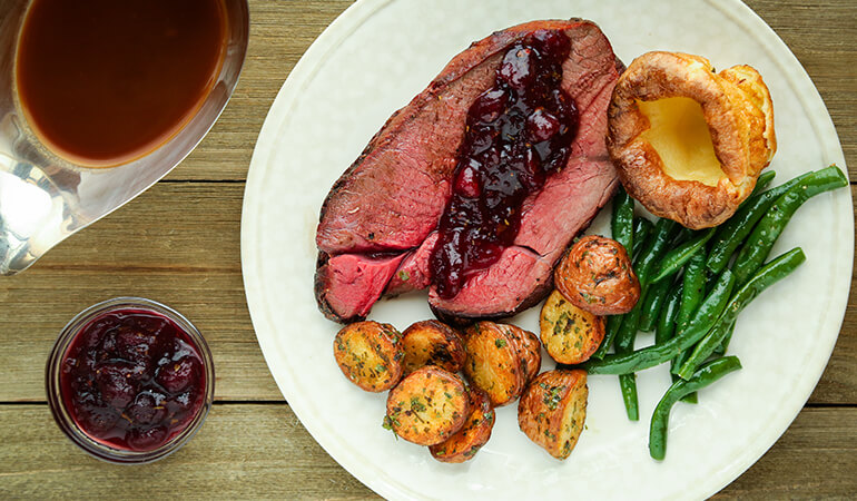 Smoked Moose Roast with Cranberry-Mint Sauce Recipe