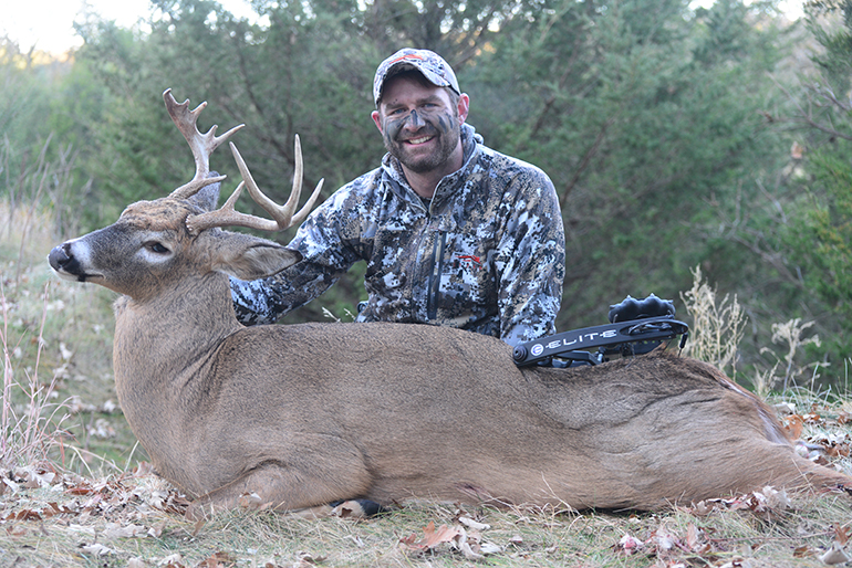 Tony Peterson with Whitetail Buck