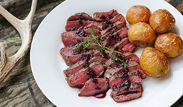 The elderberry pan sauce in this recipe tastes amazing with the venison.