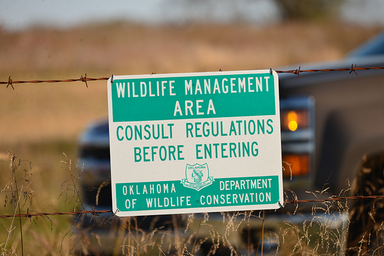 wildlife management area signage