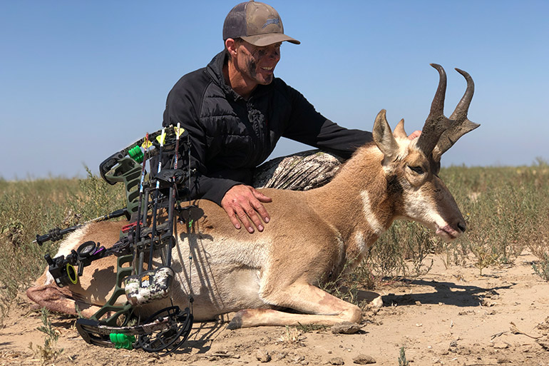 Jace Bauserman with pronghorn and western stabilizer setup