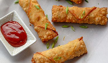 Light and crispy egg rolls filled with ground venison, morel mushrooms, shredded cabbage, and cheese.