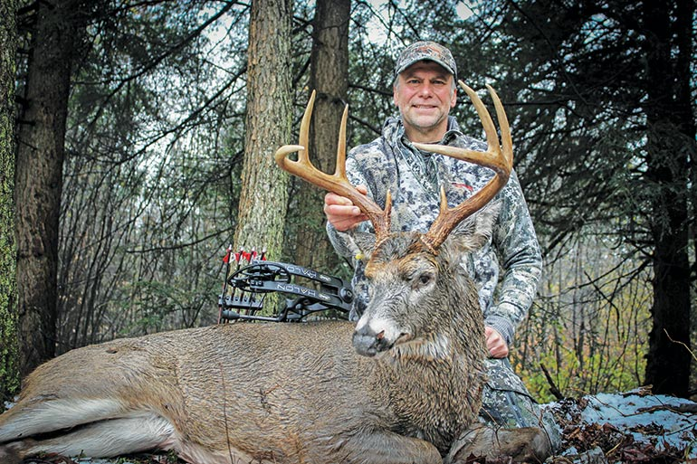 Joe Martonik with whitetail buck