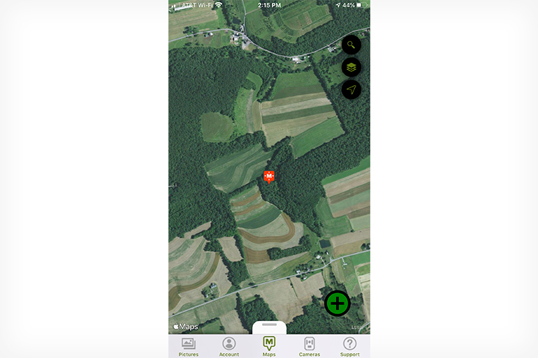 Moultrie Mobile map screen