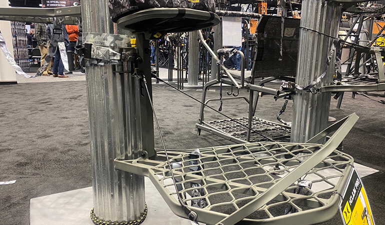 With a new selection of treestands, ground blinds and accessories unveiled at the 2020 ATA Show, here's a look at what's new on the show floor.