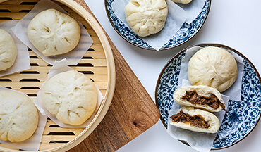 Create your own fluffy, Chinese-style bao buns at home with this recipe! Fill them with tender, braised venison shoulder or any other wild game meat you'd like.
