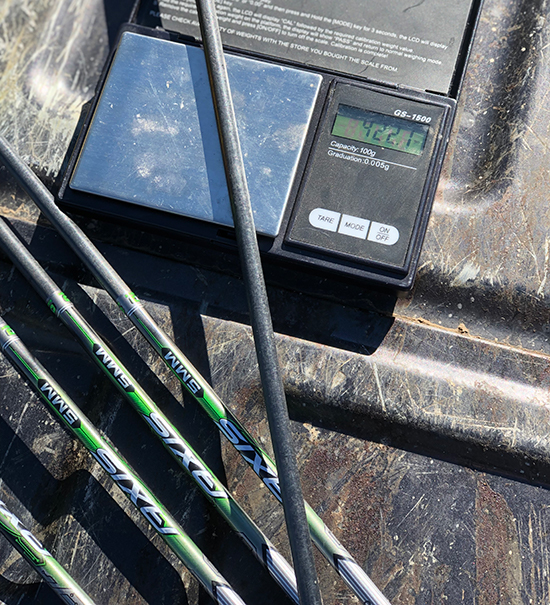 weighing Easton Axis arrows