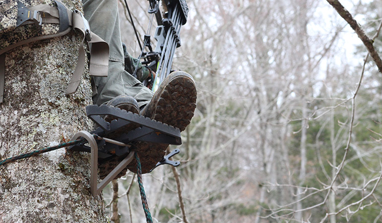 Where Do I Put My Feet When Tree Saddle Hunting?