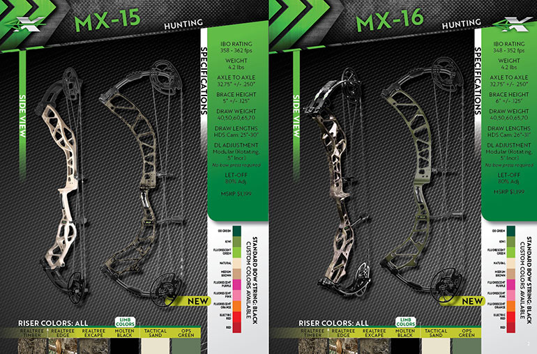 Xpedition MX bows specs