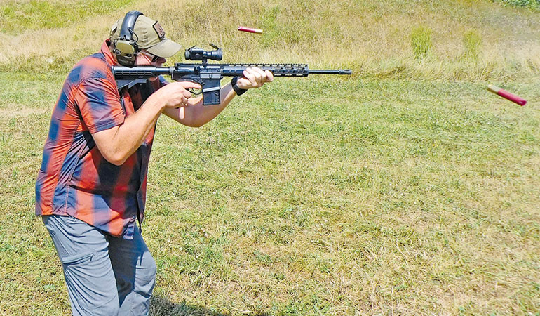Consider the ATI Omni Hybrid AR-15 .410 for hunting and home defense.