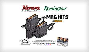 Legacy Sports International is now shipping Howa 1500 and Remington 700 BDL Ammo Boost magazine conversion kits.