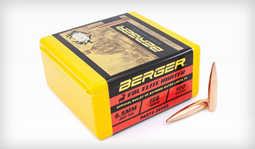 Berger Bullets is now shipping the new 6.5mm 156gr EOL Elite Hunter projectiles to exclusive retailers.