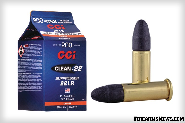 CCI Ammunition announced their new Clean-22 Suppressor .22 LR rounds, packaged in their new easy-to-pour, bulk-pack cartons.